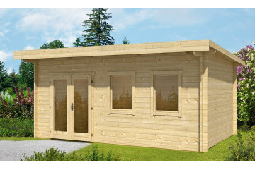 Gartenhaus BORDEAUX 44 mm - 16,8 m²